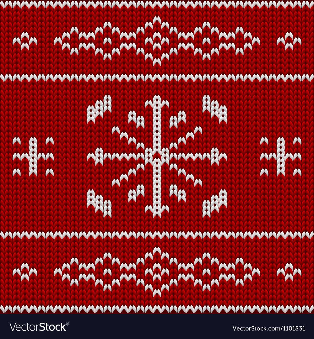 Knit pattern model vector