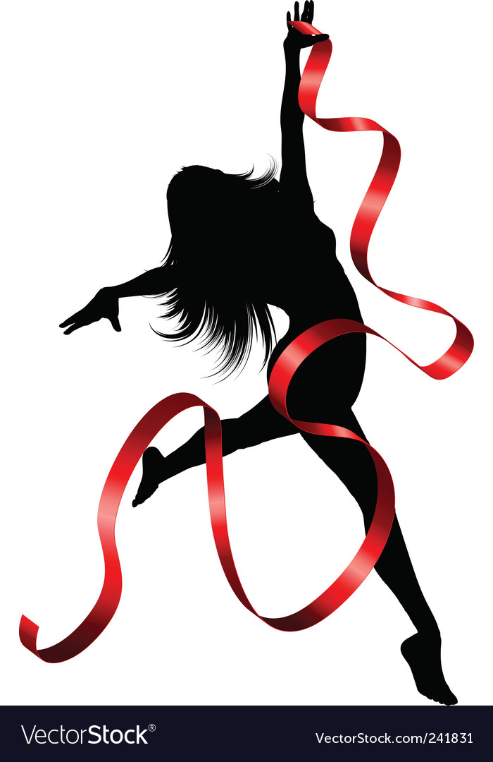 Ribbon dancer vector