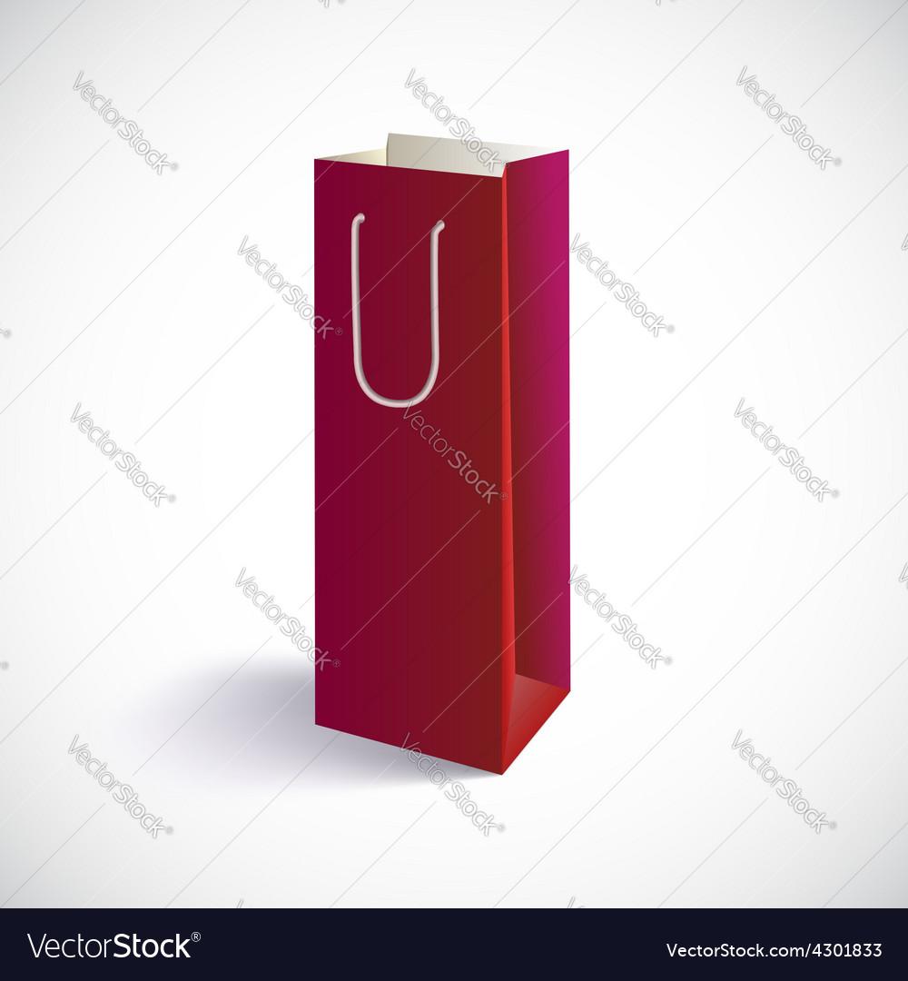 Carrier paper bag vector
