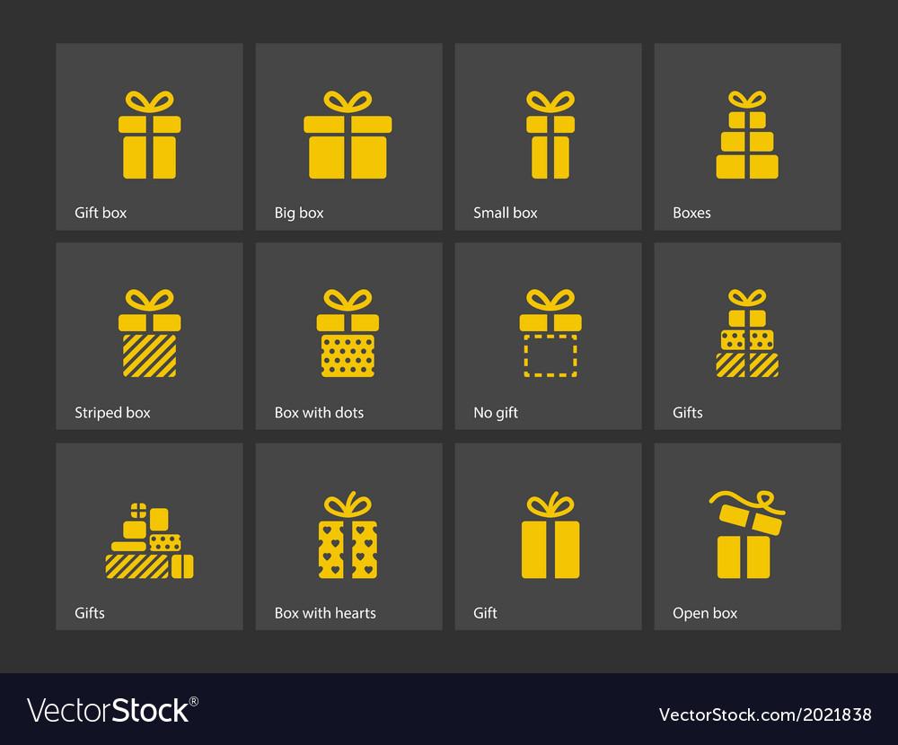 Present box icons vector