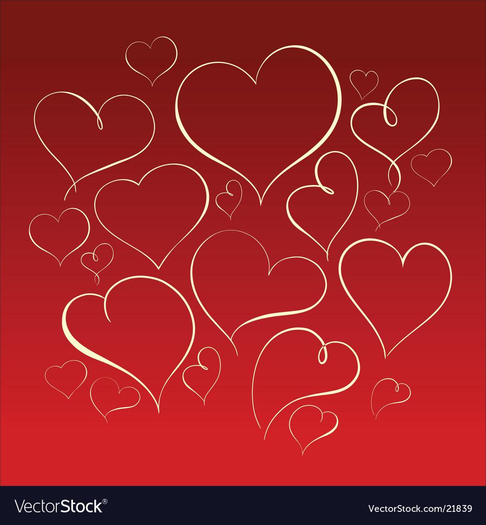 Heart forms vector