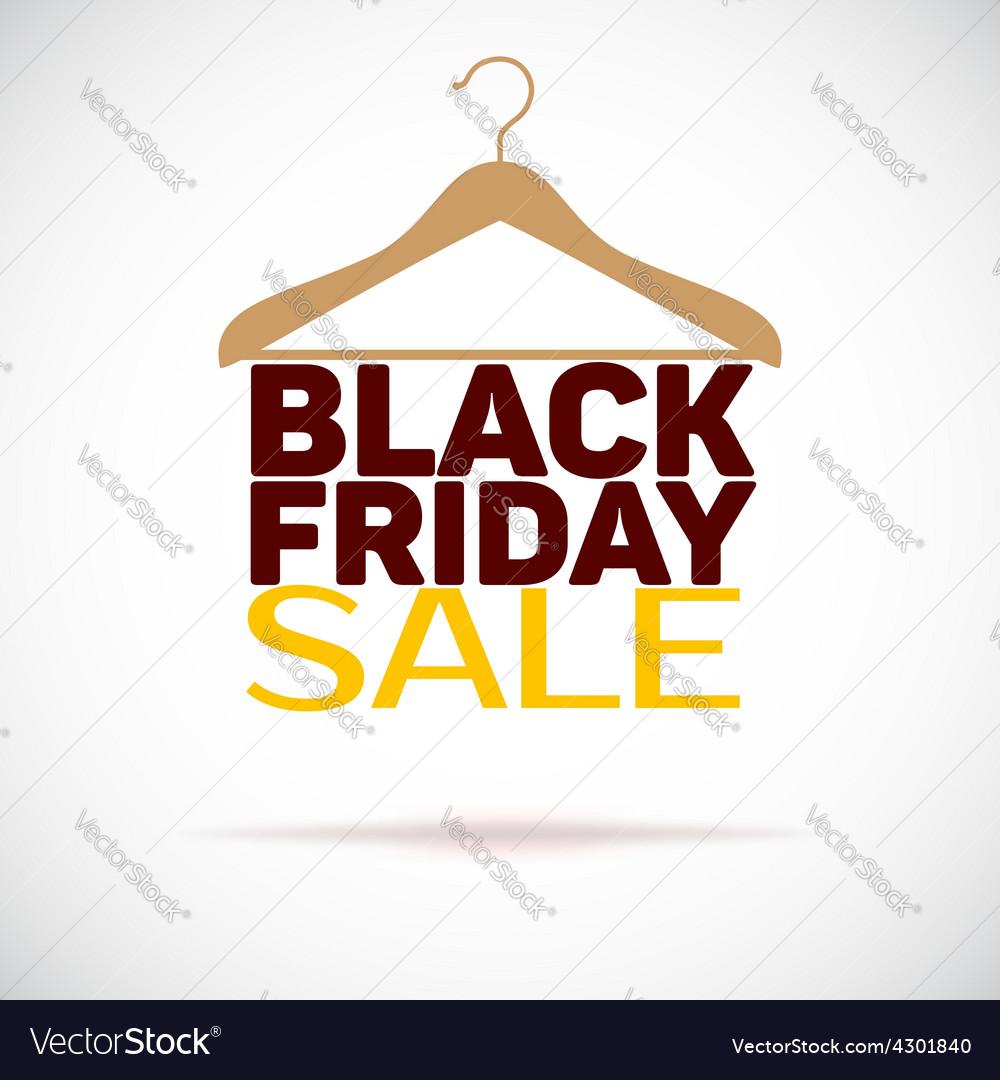 Hanger  black friday poster sale vector