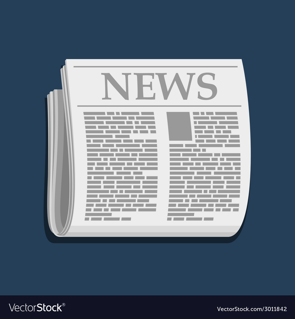 Newspaper icon business news vector