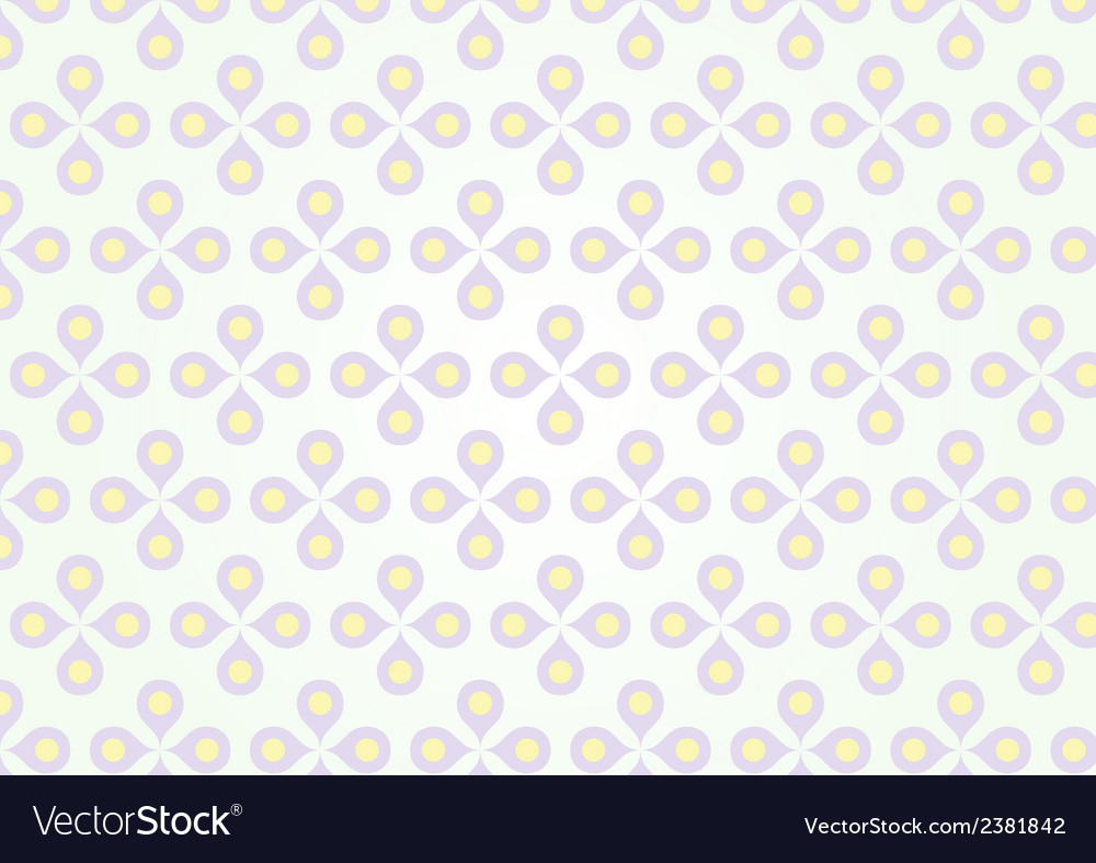 Sweet purple flower and yellow pollen on pastel vector