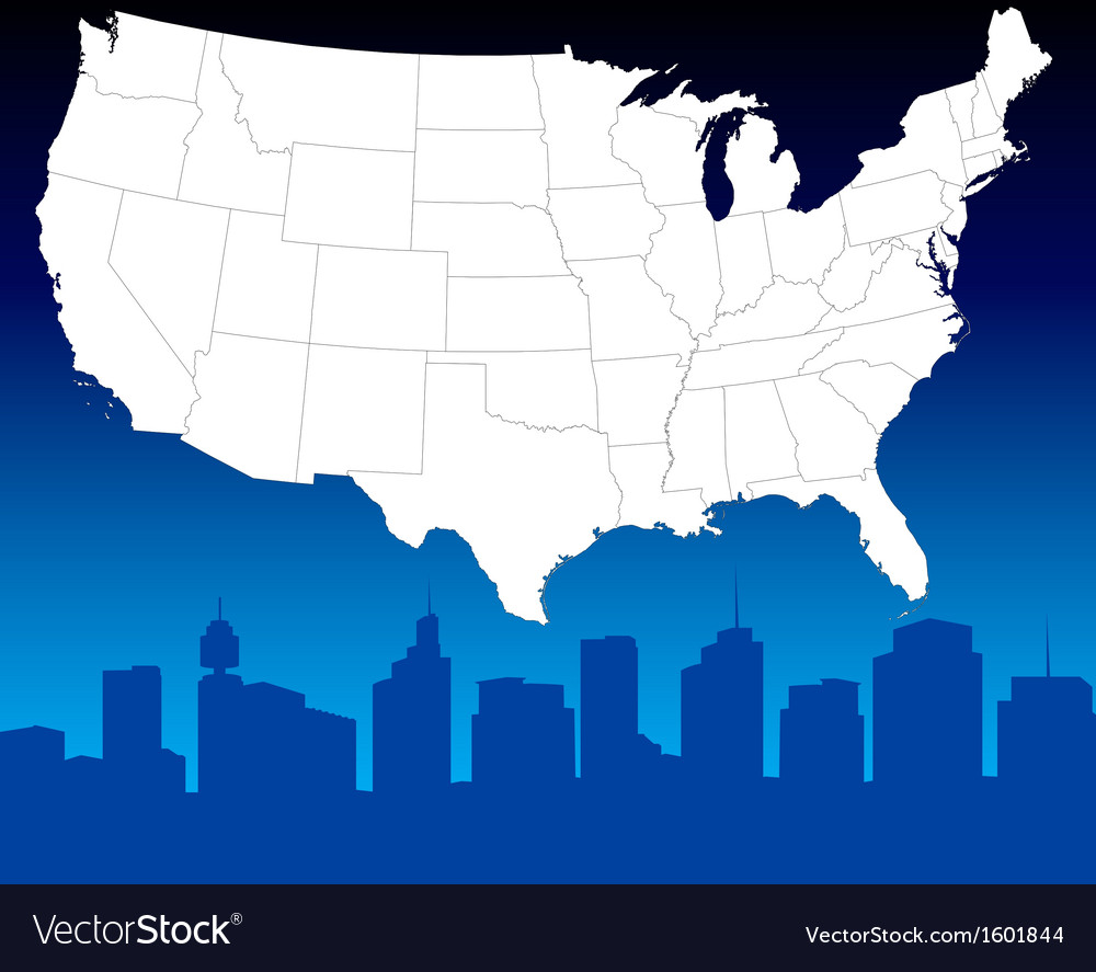 Abstract downtown background vector