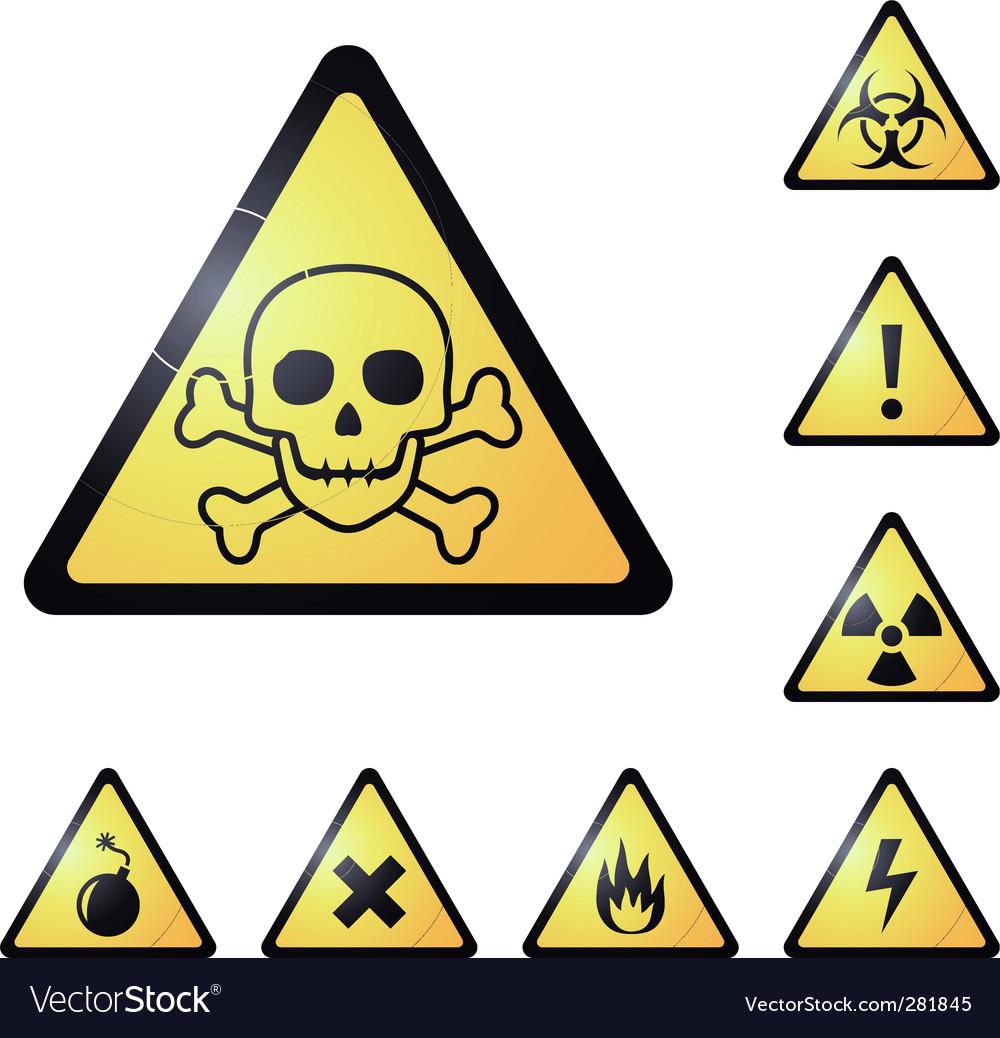 Warning signs symbols vector