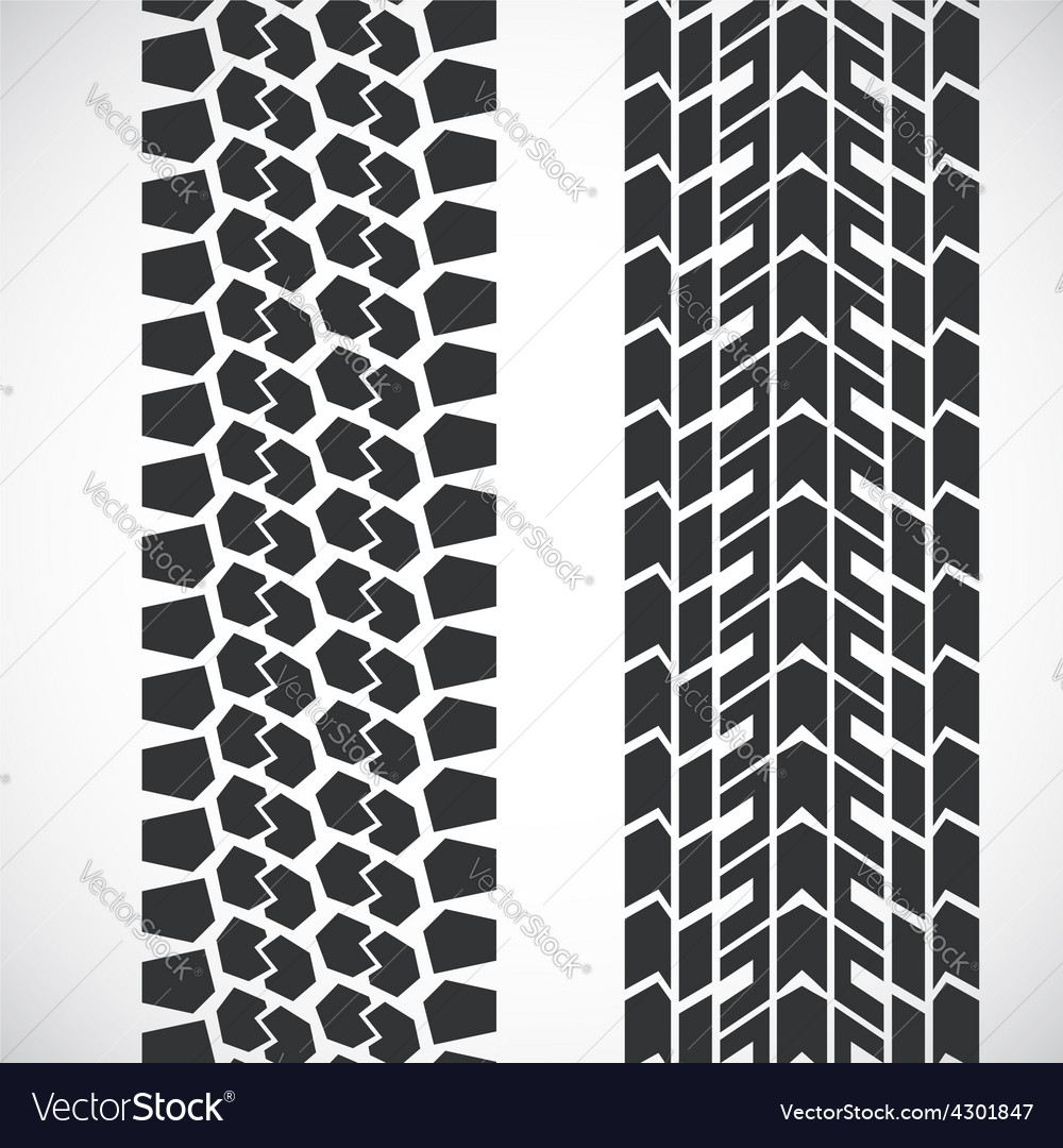 Tread pattern tyre vector
