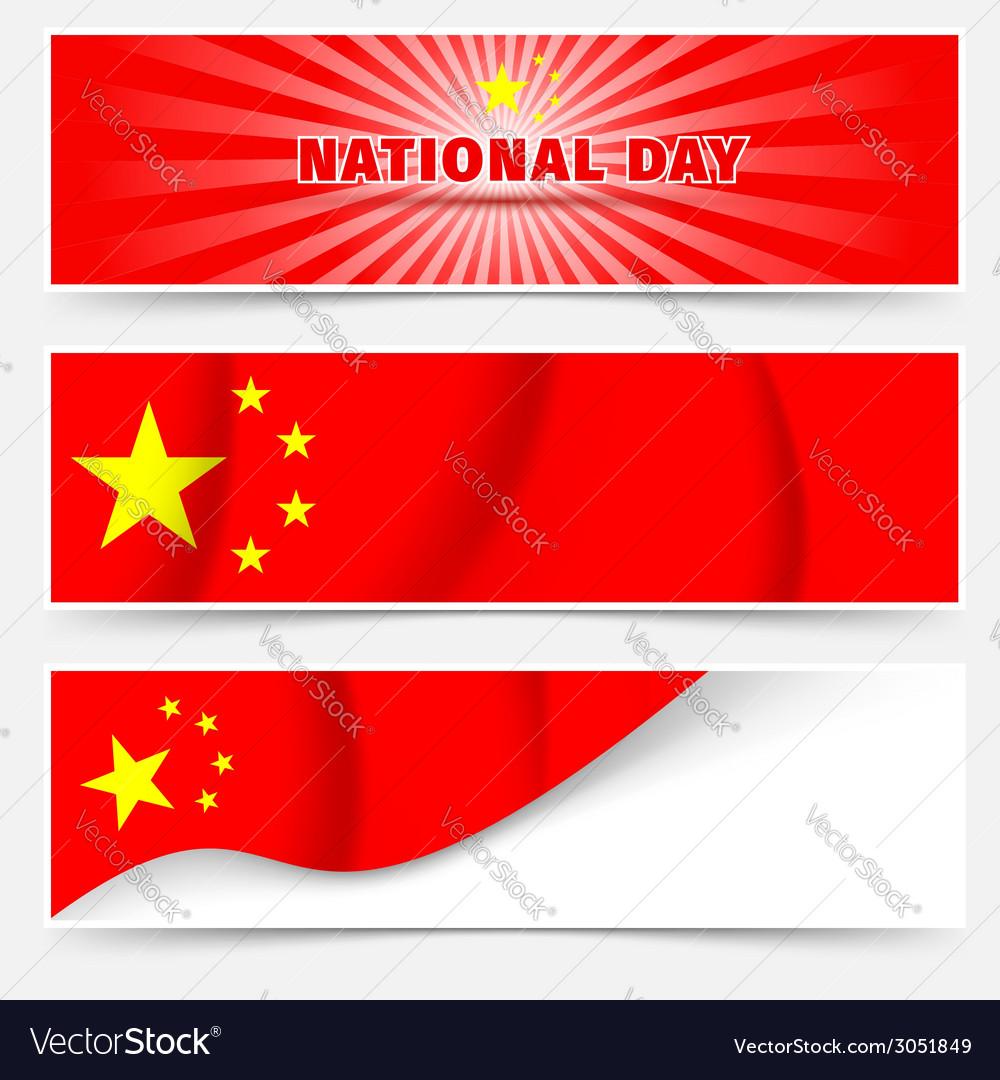 1st october china national day web headers vector