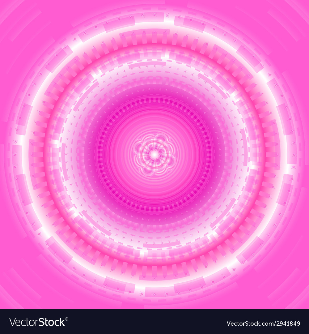 Abstract pink circle techical background vector