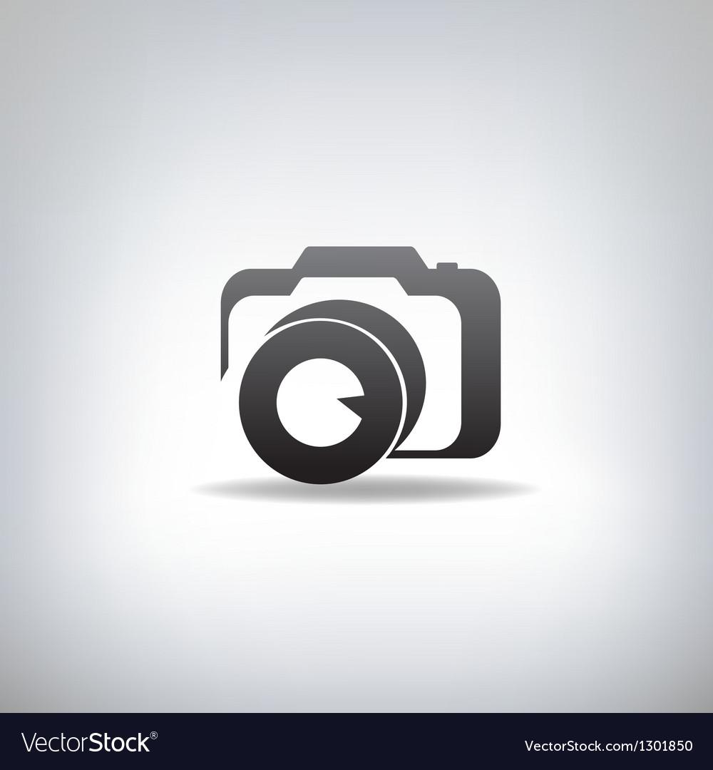 Stylized photo camera vector