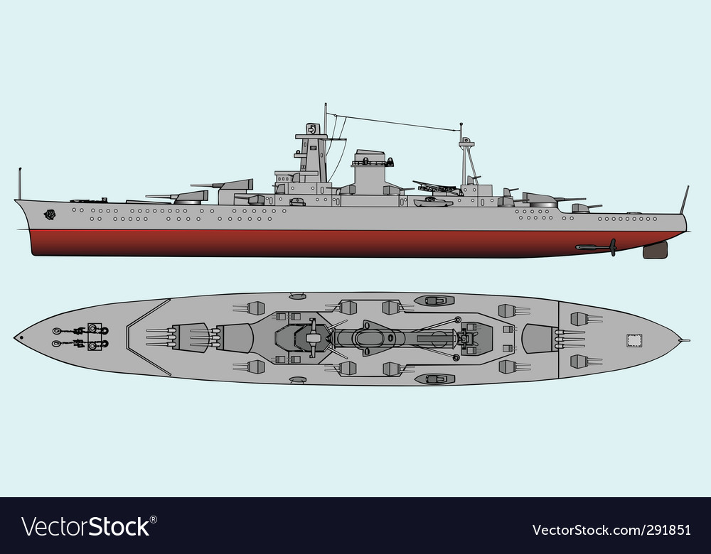 Military navy ships vector