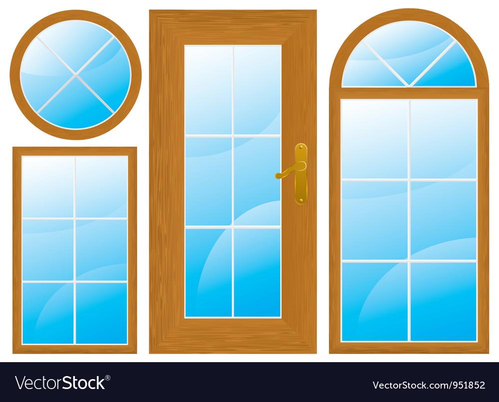Window door vector