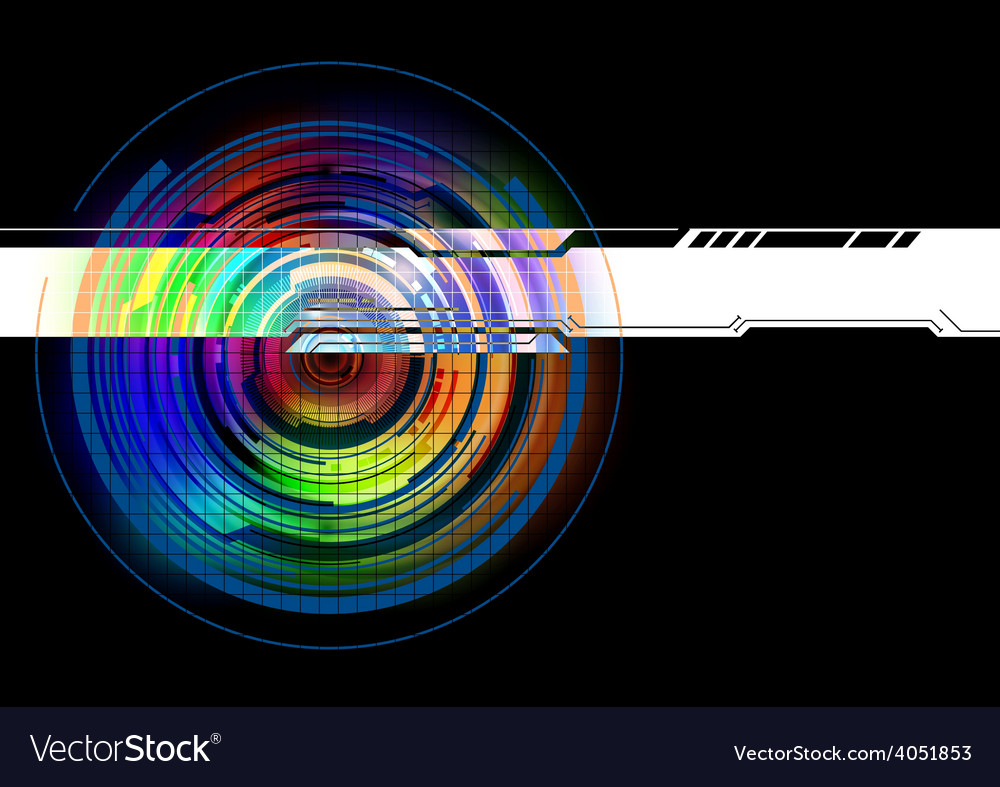 Abstract colorful technology background vector