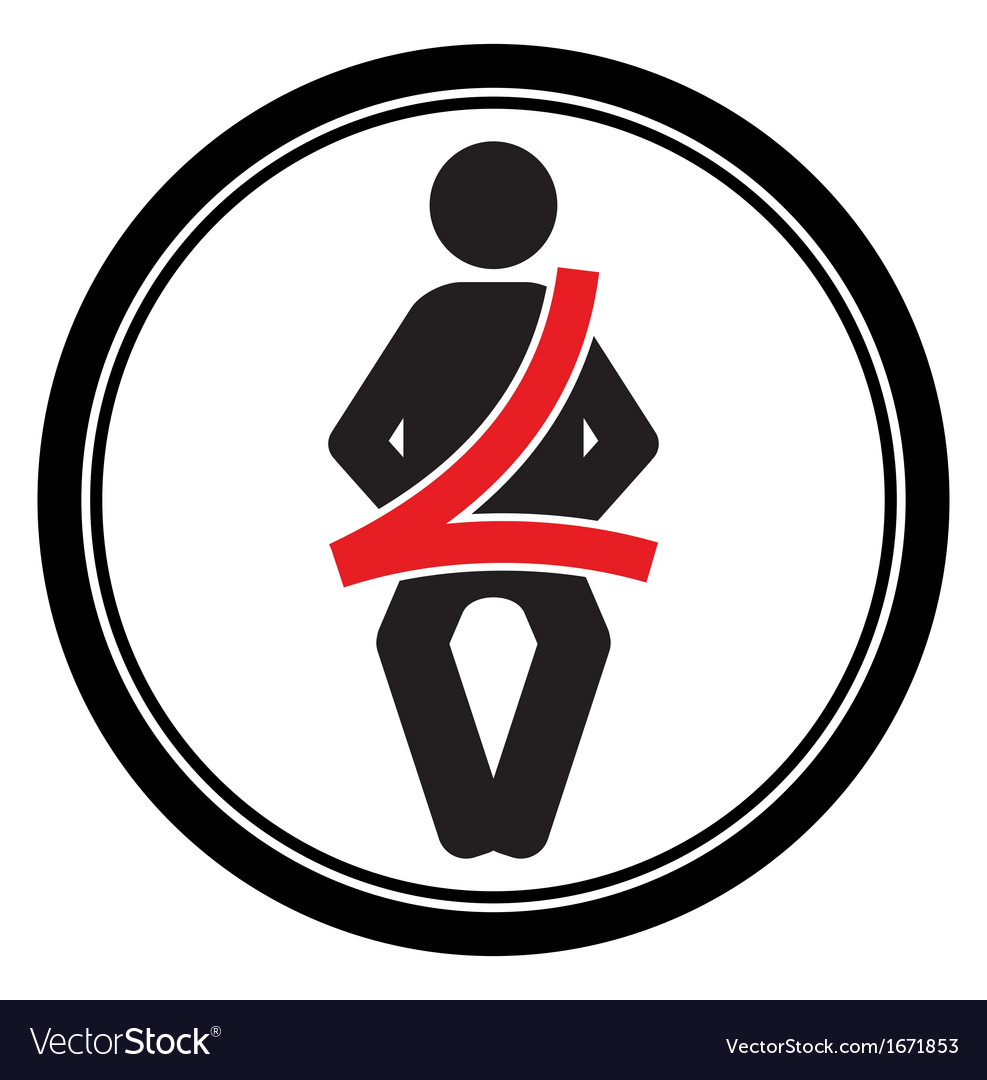 Seat belt sign vector