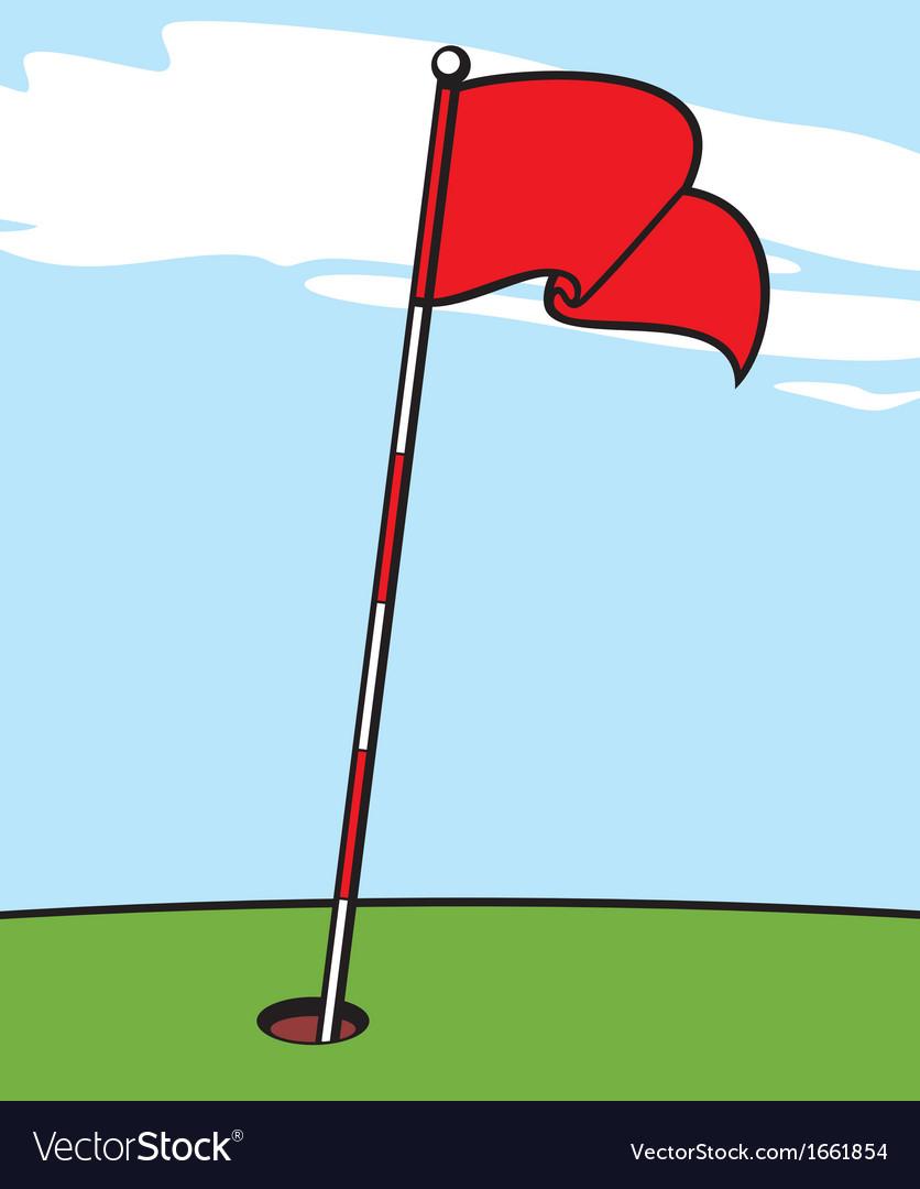 A golf flag vector