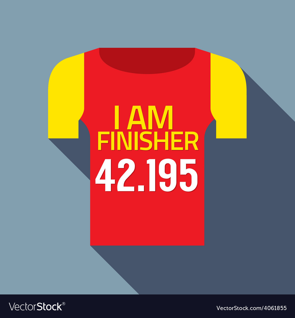 Finisher tee of marathon runner vector