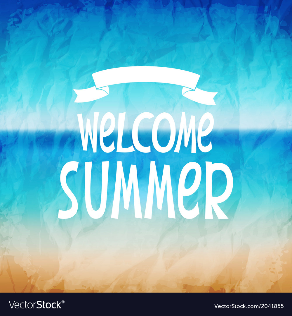 Welcome to summer vector