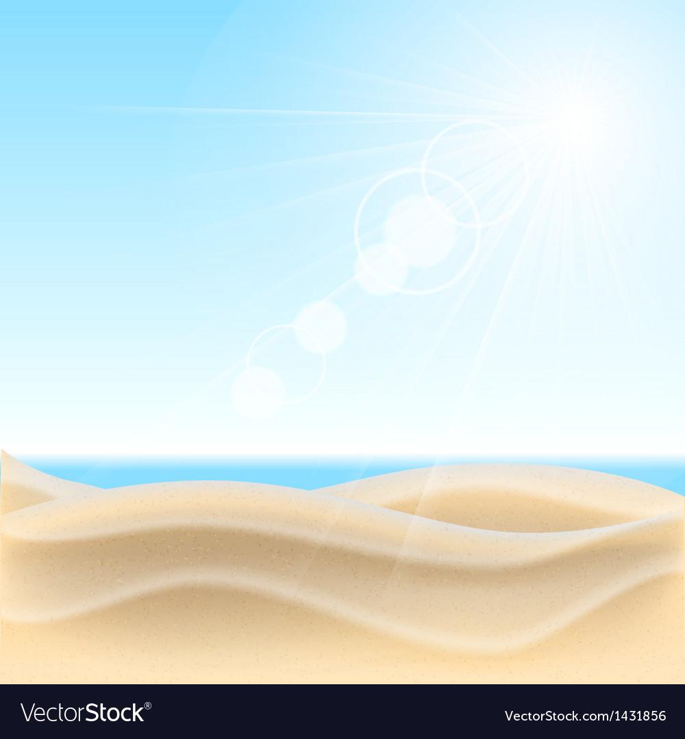 Sand beach background vector