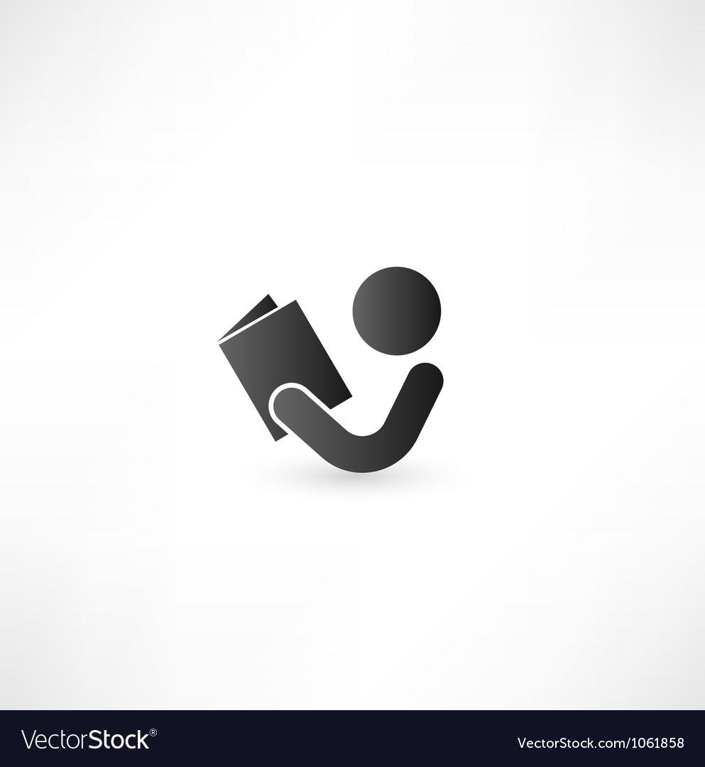 Book reader sign icon vector