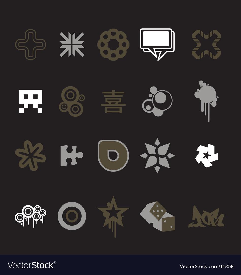 Urban design icons vector
