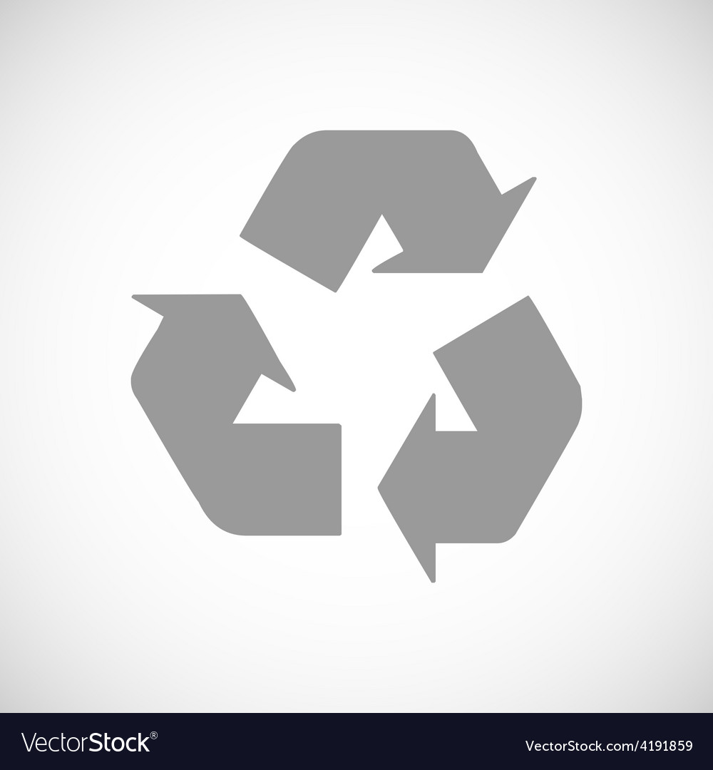 Recycling black icon vector