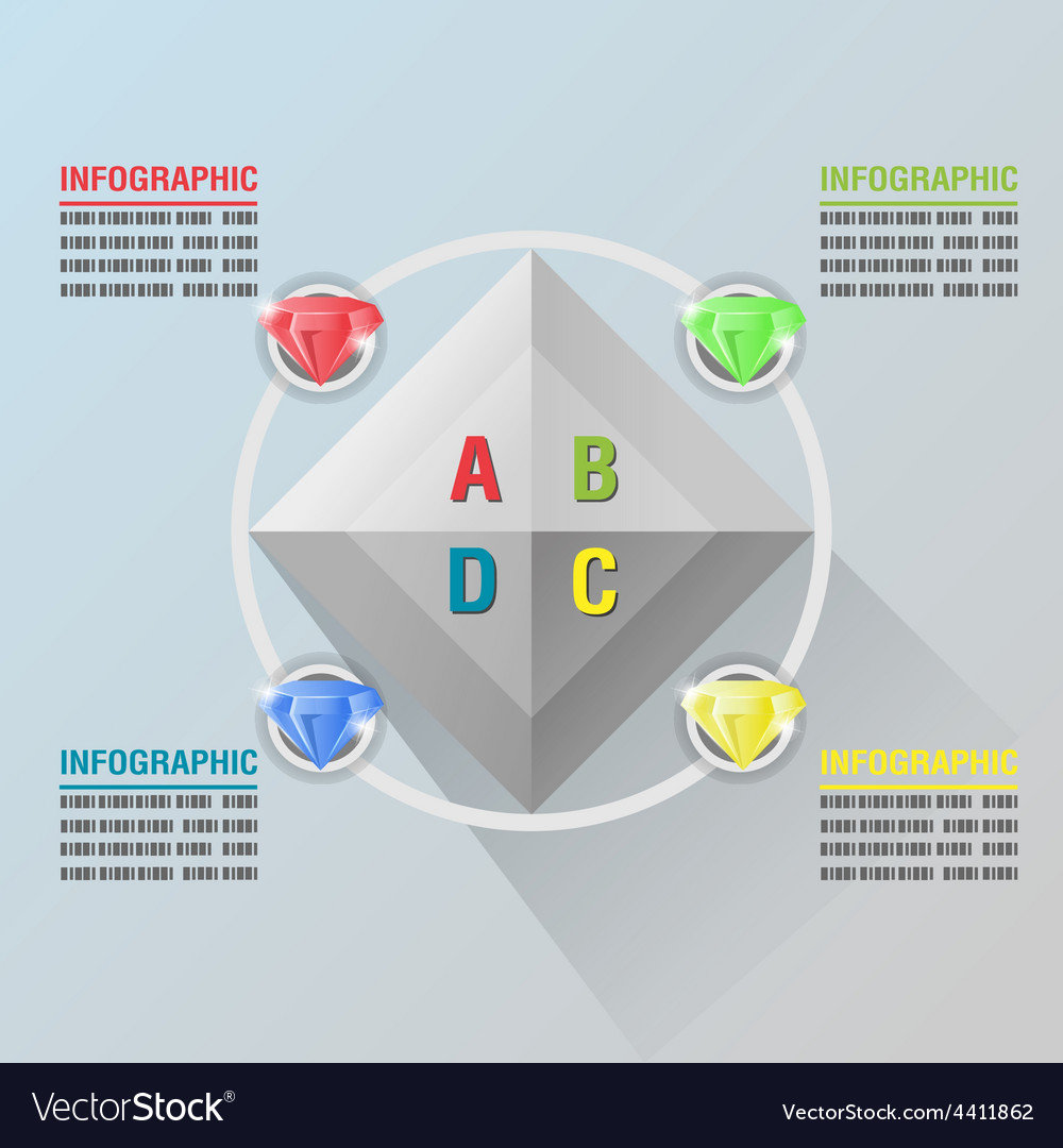 Diamond info graphic luxury glow plan vector