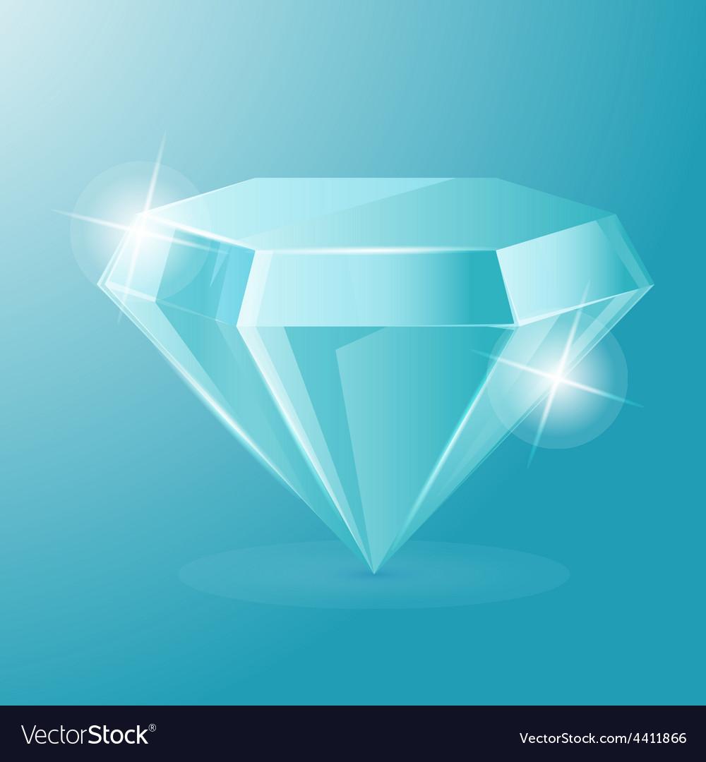 Diamond luxury glow object accessories vector