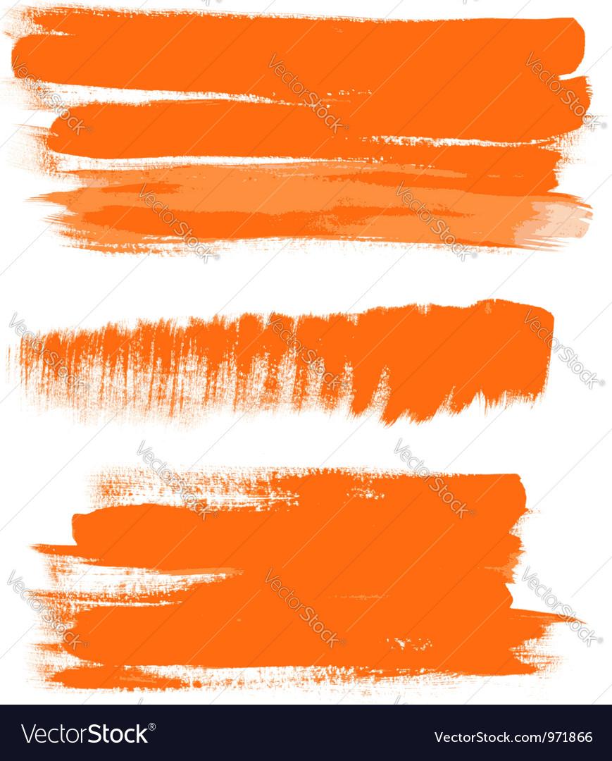 Orange gouache brush strokes the perfect backdrop vector