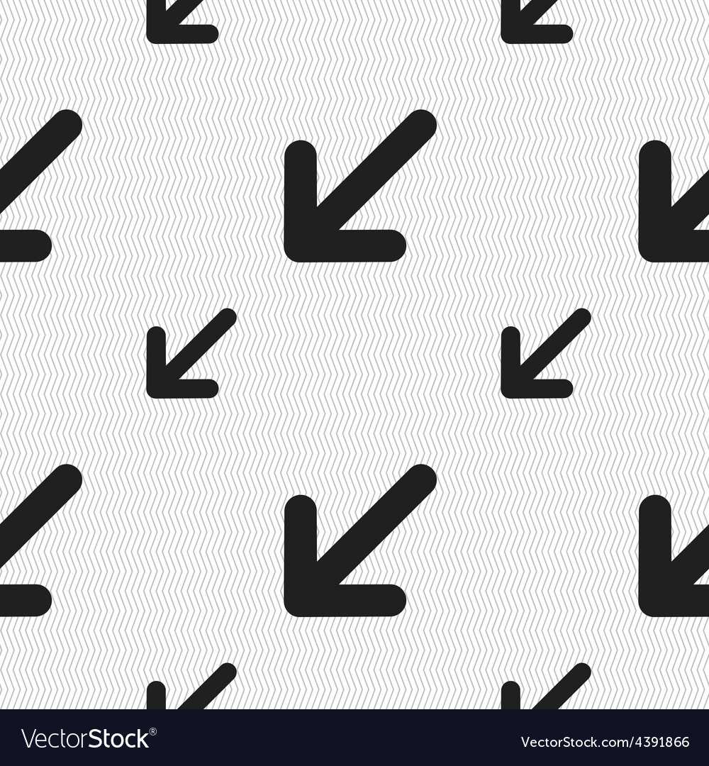 Turn to full screenicon sign seamless pattern with vector