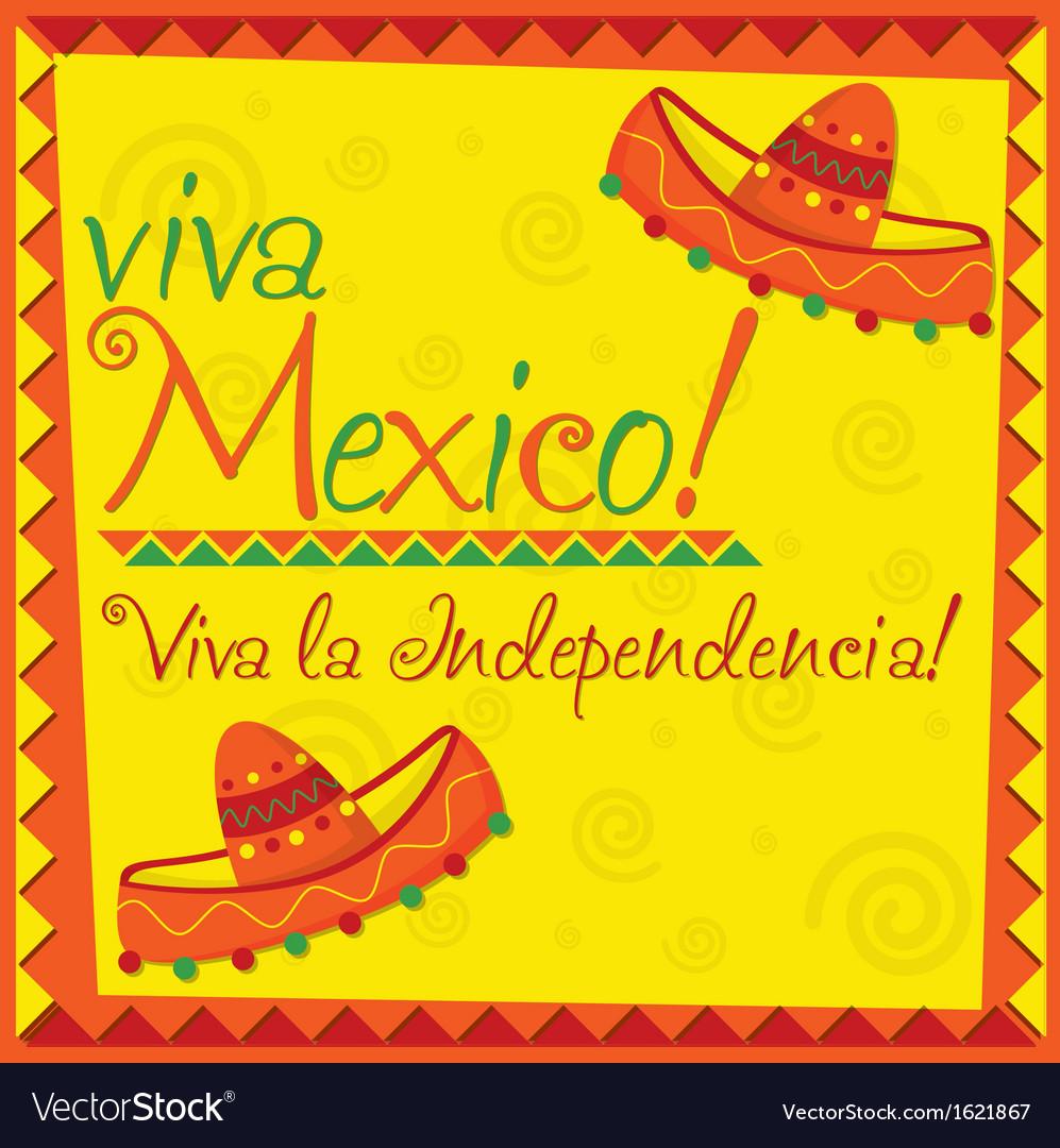 Viva mexico card design vector