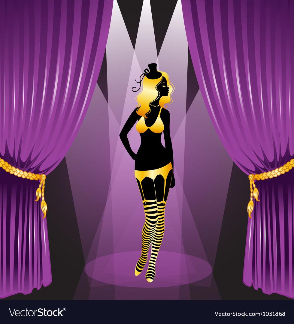 Curtain cabaret vector