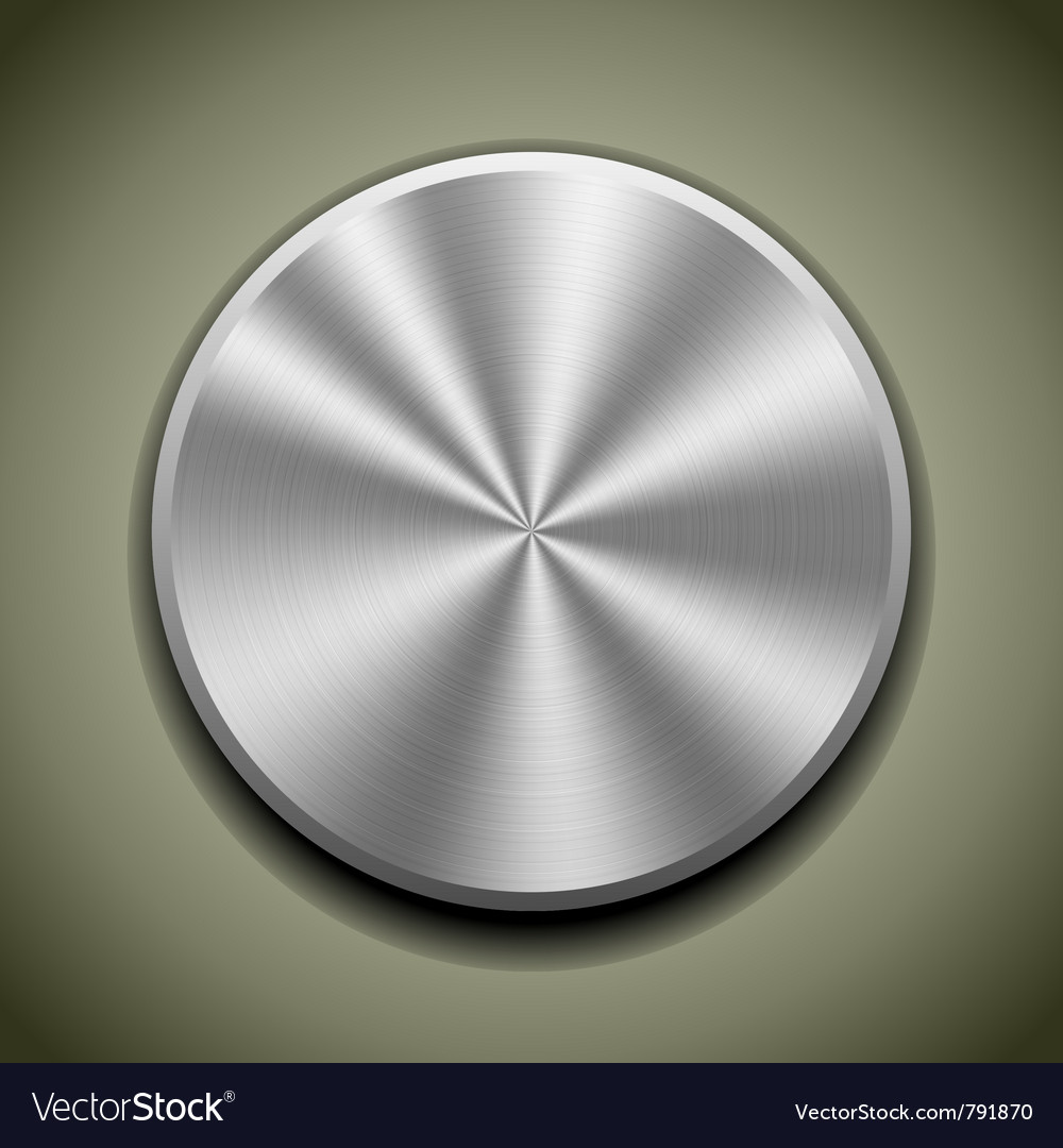 Round stainless button vector