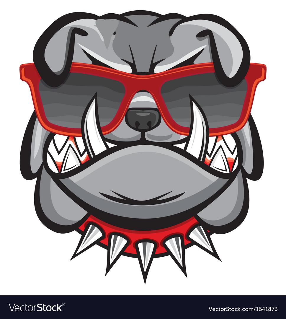 Dog with retro glasses vector