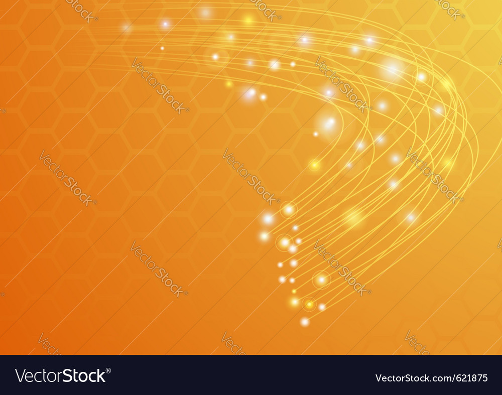 Abstract ray light vector