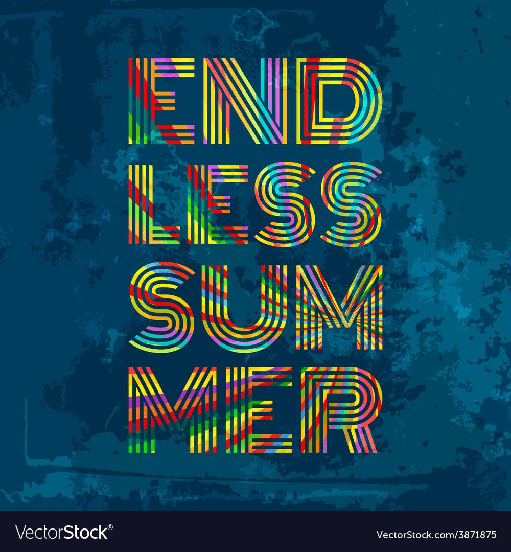 Endless summer artwork for wear in custom colors vector