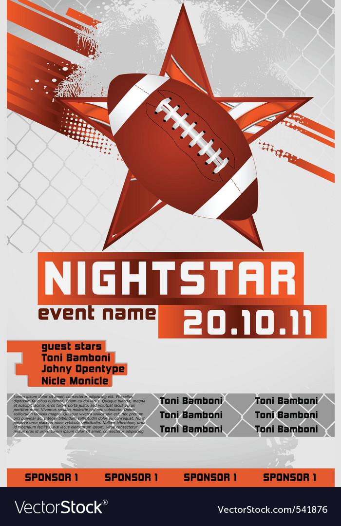 Sport event poster football vector