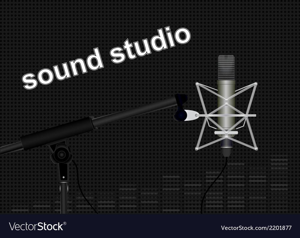 Sound studio vector
