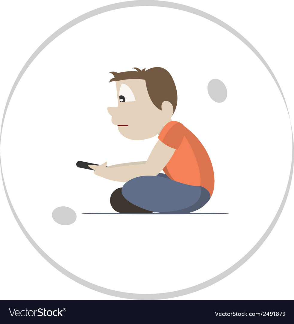 Technology and social isolation vector