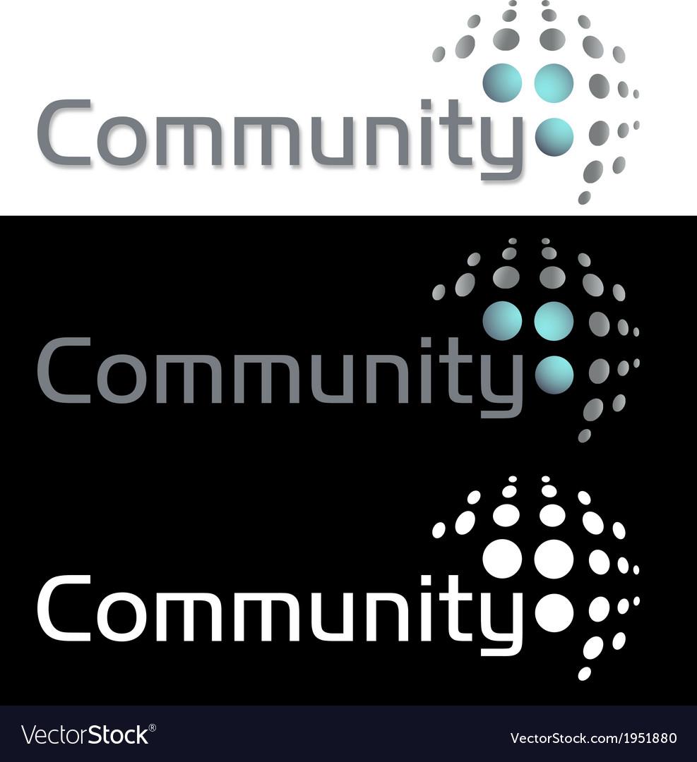 Social media community company icon logo vector