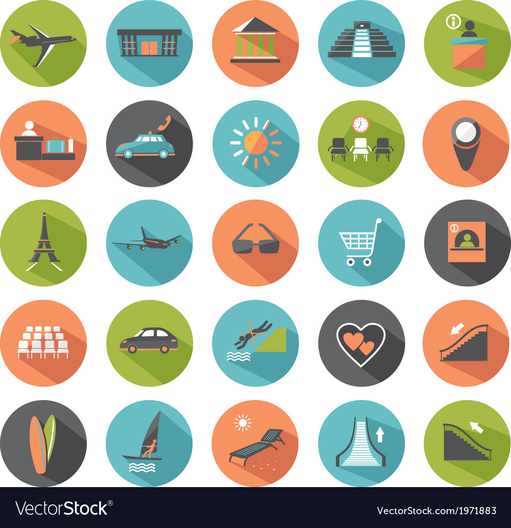 Set of modern flat icons vector