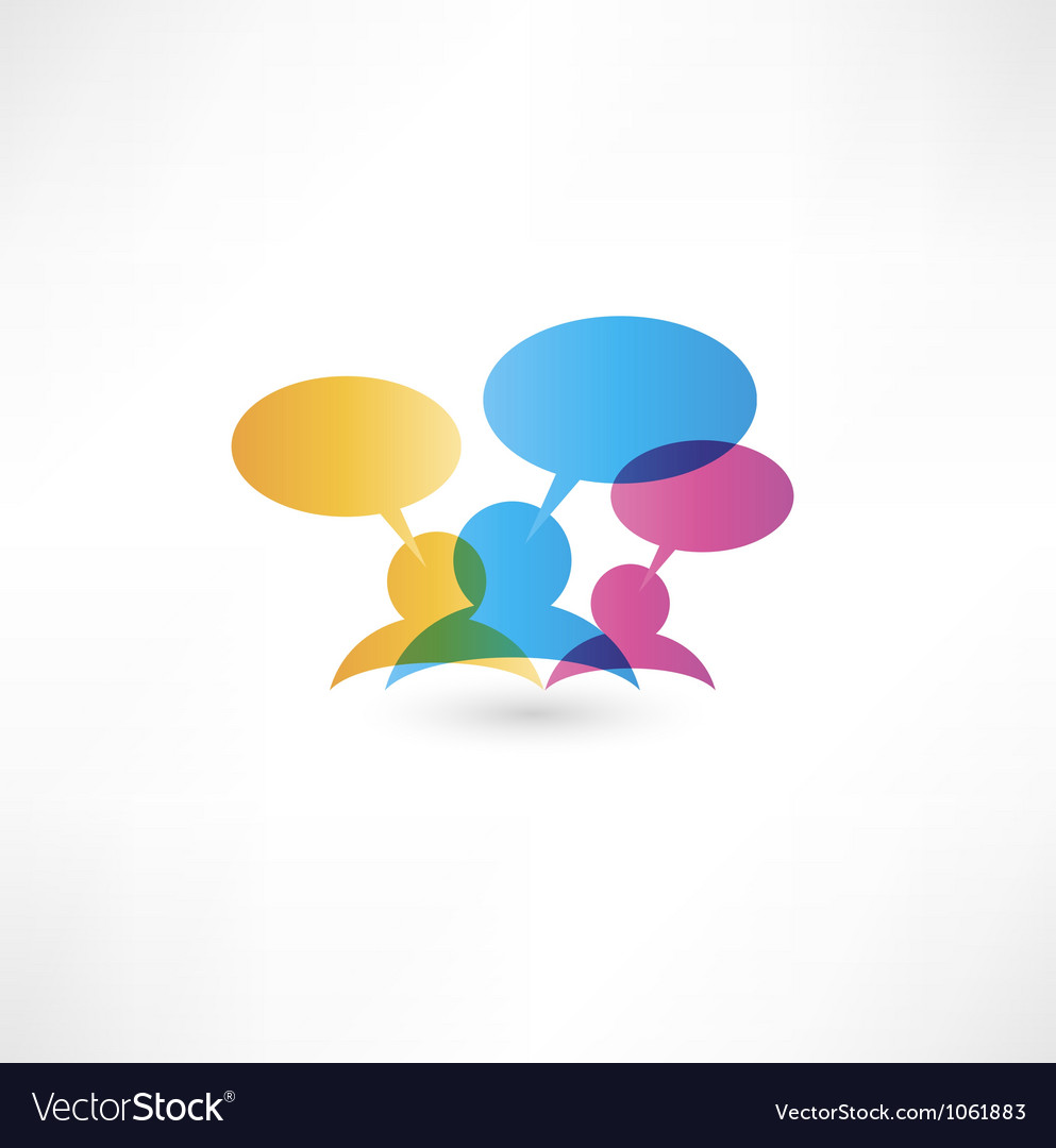 Talk concept speech bubbles vector