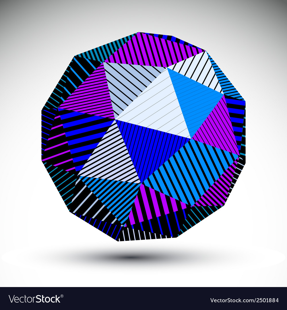 Bright abstract 3d rounded contrast figure vector