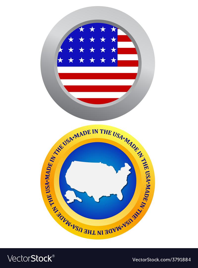 Button as a symbol of america vector