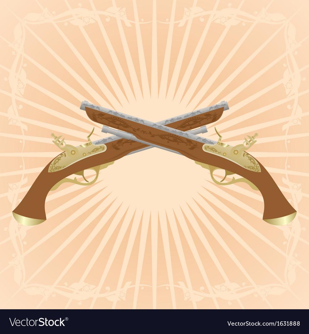 Dueling pistols vector