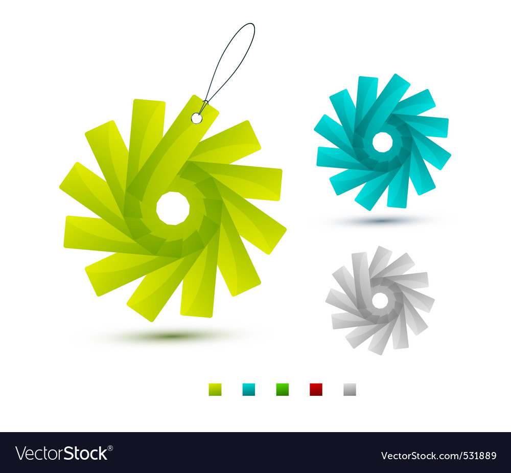 Modern decorations vector