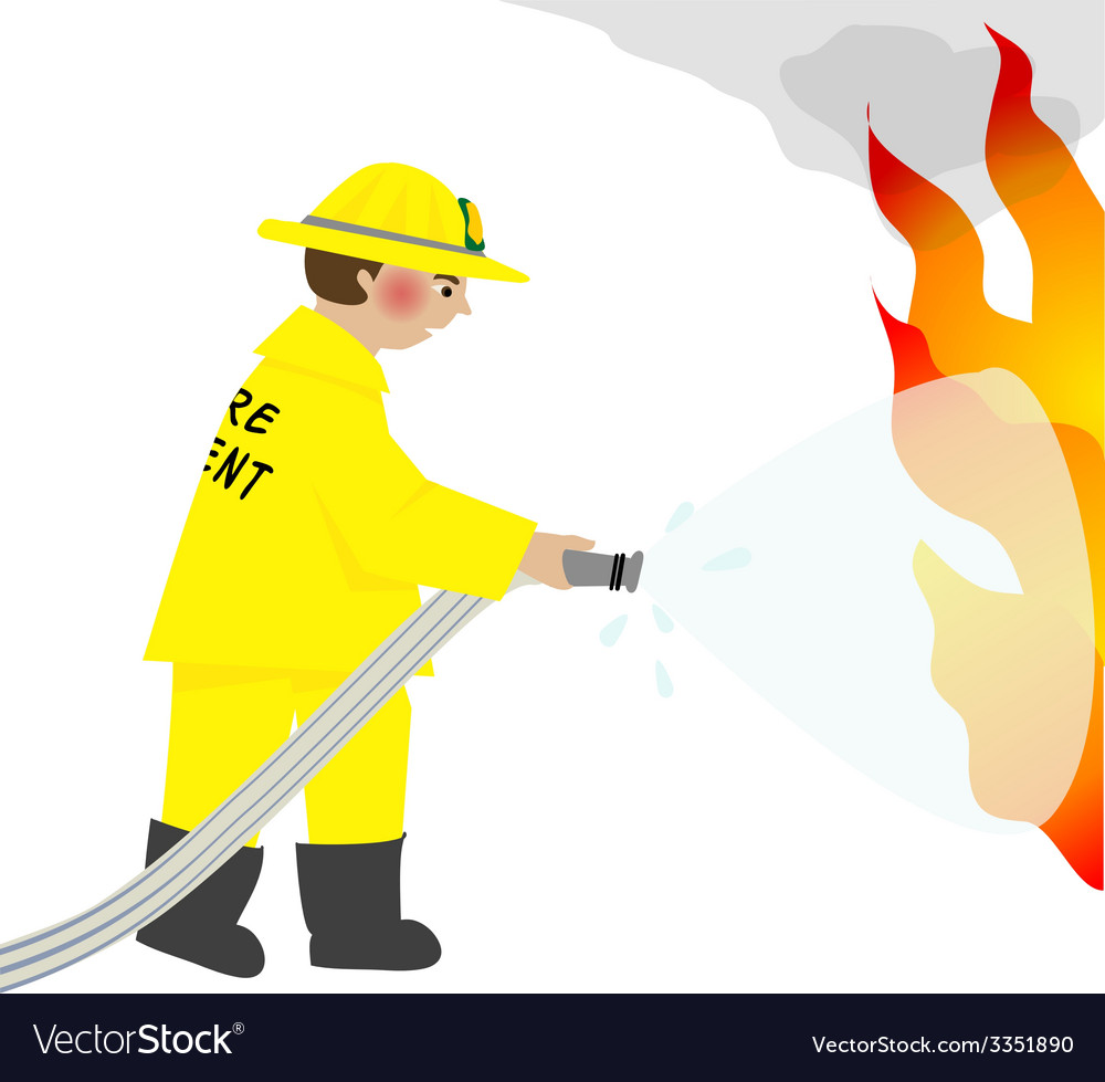 The firefighter vector
