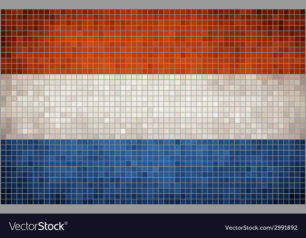 Mosaic flag of nederlands vector