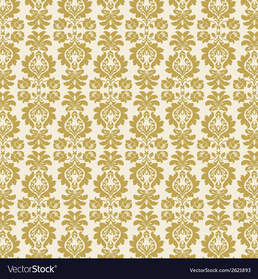 Gold damask vector