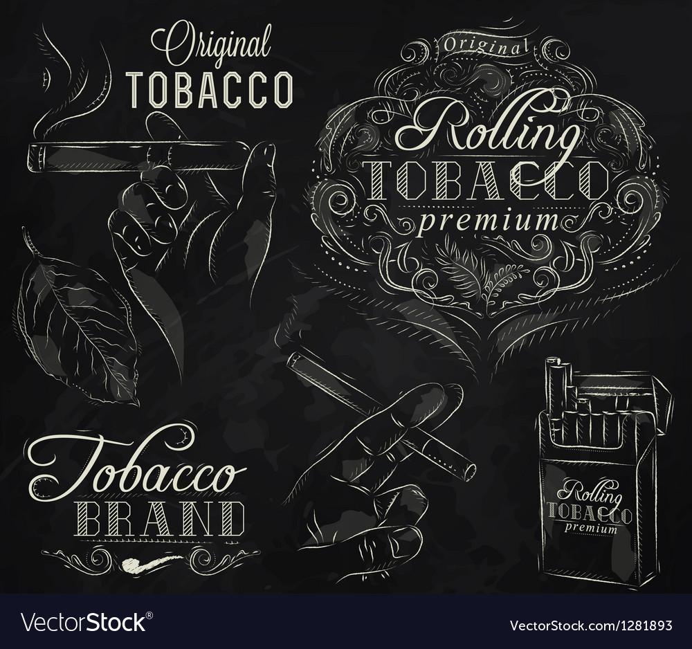 Tobacco chalk vector