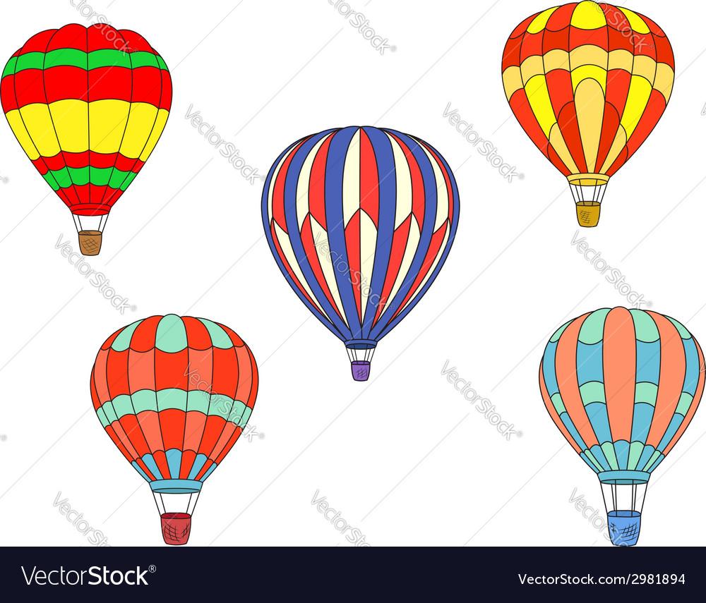 Colorful air balloons vector